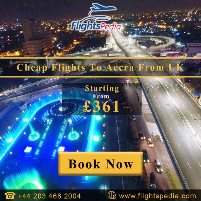 Cheap Flights to Accra with FlightsPedia